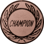 Emblem 25 mm Kranz CHAMPION, bronze