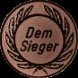 Emblem 25 mm Kranz Dem Sieger, bronze