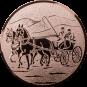 Emblem 25 mm Kutsche, bronze