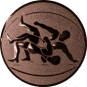 Emblem 25 mm Ringen, bronze