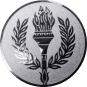 Emblem 25 mm Siegesfackel, silber