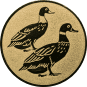 Emblem 25mm 2 Enten, gold