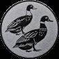 Emblem 25mm 2 Enten, silber