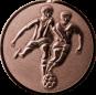 Emblem 25mm 2 Fußballer 3D, bronze