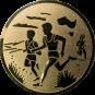 Emblem 25mm 2 Laeufer am See, gold