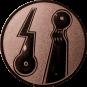 Emblem 25mm 2 Minigolfplätze, bronze