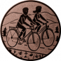 Emblem 25mm 2 Radfahrer, bronze