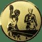 Emblem 25mm 2 Tischtennisspieler, gold