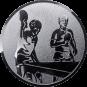 Emblem 25mm 2 Tischtennisspieler, silber