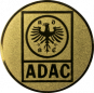 Emblem 25mm ADAC, gold