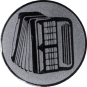 Emblem 25mm Akkordeon 2, silber