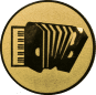 Emblem 25mm Akkordeon, gold