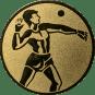 Emblem 25mm Ballwerfer, gold