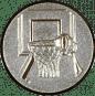 Emblem 50mm Basketball m. Korb 3D, silber