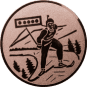 Emblem 25mm Biathlon, bronze