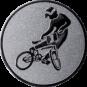 Emblem 25mm BMX, silber