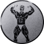 Emblem 25mm Bodybuilding männl., silber