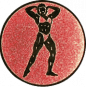 Emblem 50mm Bodybuilding weibl., bronze