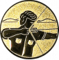 Emblem 50mm Bogenschütze rechts, gold schießen