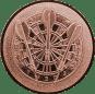 Emblem 25mm Dartscheibe 3D, bronze