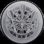 Emblem 50mm Dartscheibe 3D, silber
