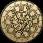 Emblem 50mm Dartscheibe, gold