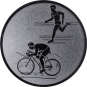 Emblem 25mm Duathlon, silber