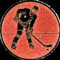 Emblem 25mm Eishokeyspieler, bronze