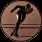 Emblem 25mm Eisschnelllauf, bronze