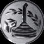 Emblem 25mm Eisstockschießen 1, silber