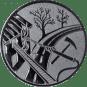 Emblem 25mm Feuerwehreisatz, silber
