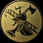 Emblem 25mm Feuerwehrhelm, gold