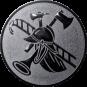Emblem 25mm Feuerwehrhelm, silber