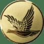 Emblem 50mm fliegende Taube, gold