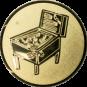 Emblem 25mm Flipper, gold
