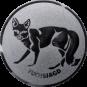 Emblem 25mm Fuchsjagd, silber