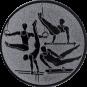Emblem 25mm Geräteturner, silber
