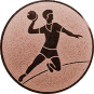 Emblem 25mm Handball Werfer, bronze