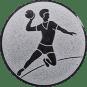Emblem 25mm Handball Werfer, silber