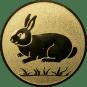 Emblem 25mm Hase, gold