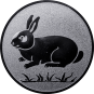 Emblem 25mm Hase, silber