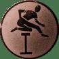 Emblem 25mm Hürdenlauf, bronze