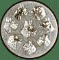 Emblem 50mm Hunderassen 3D, silber