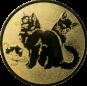 Emblem 25mm Katzen, gold