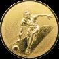 Emblem 50mm Kegeln 3D, gold
