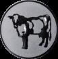 Emblem 25mm Kuh, silber