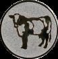 Emblem 50mm Kuh, silber