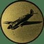 Emblem 25mm Kunstflugzeug,  gold