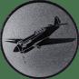 Emblem 25mm Kunstflugzeug, silber