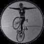 Emblem 25mm Kunstrad, silber